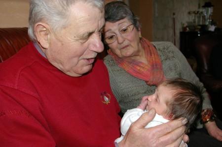 Aileen et ses arrieres grands parents Duranteau